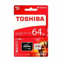 Toshiba EXCERIA™ M302 MicroSD w/adapter Class10 90M 64GB
