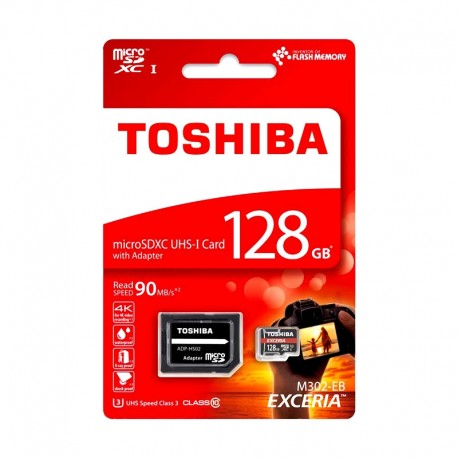 Toshiba EXCERIA™ M302 MicroSD w/adapter Class10 90M 128GB