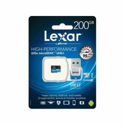 Lexar MicroSD w/ USB Reader Class10 U1 633X 95M 200GB