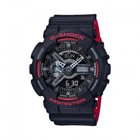 Casio G-Shock Digital Watch GA-110HR-1ADR BLACK & RED
