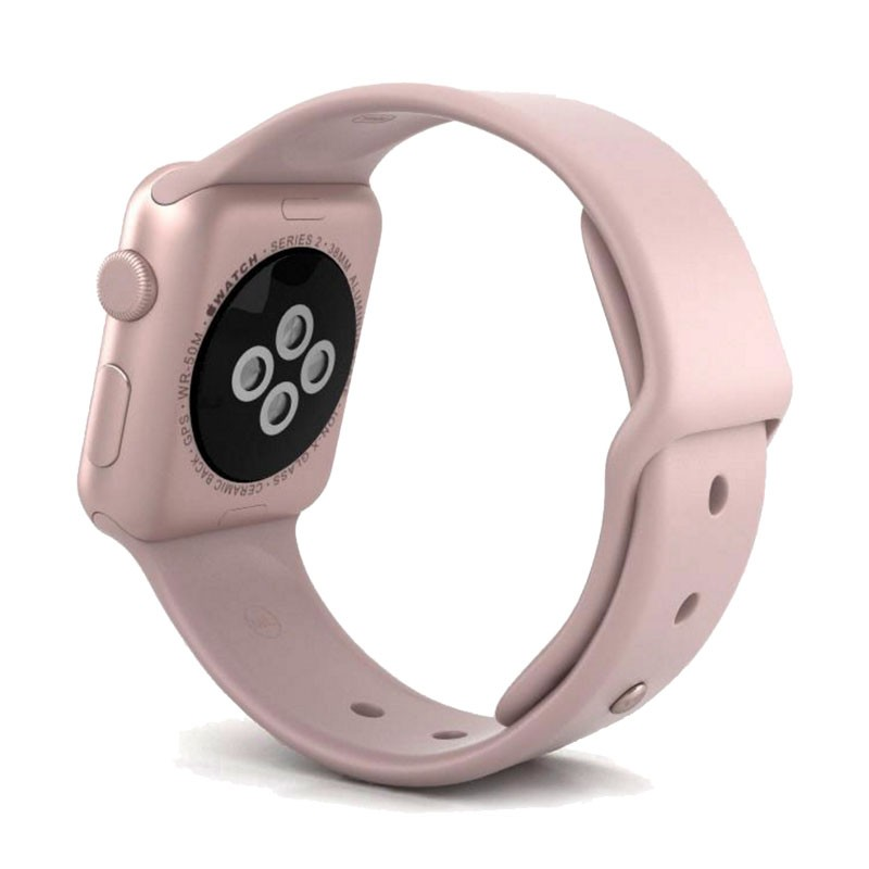 best website 61e10 9350c Apple Watch Rose Gold Aluminum Case with Pink Sand Sport Band Series 2 38mm  - 128ONLINE