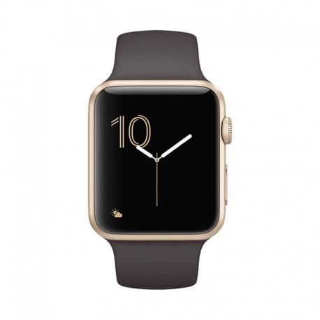 Apple Watch 金色鋁金屬錶殼配可可啡色 智能手錶 Series 1 42mm