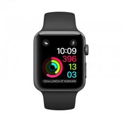 Apple Watch 太空灰鋁金屬錶殼配黑色運動錶帶 智能手錶 Series 2 42mm