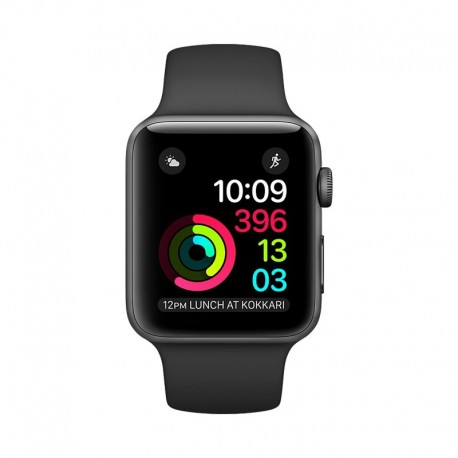 Apple Watch Space Gray Aluminum Case with Black Sport Band Series 2 42mm