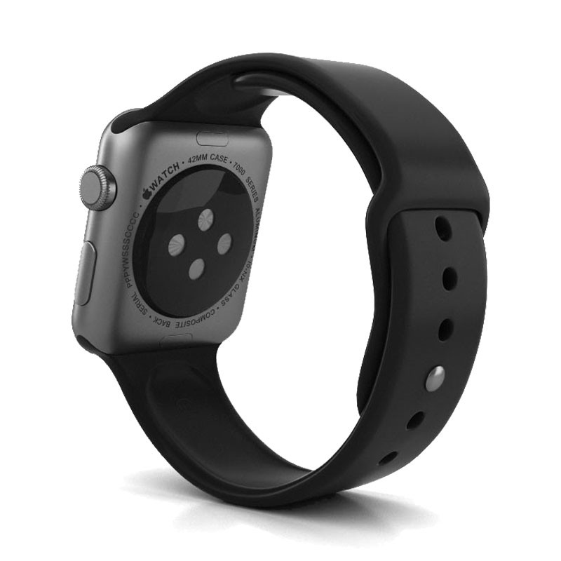 info for 8162b e00bf Apple Watch Space Gray Aluminum Case with Black Sport Band Series 2 42mm -  128ONLINE