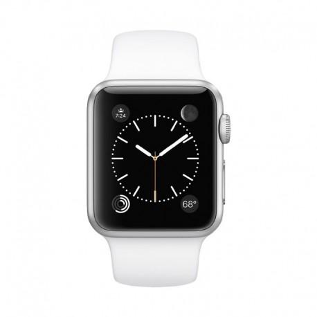 Apple Watch 銀色鋁金屬錶殼配白色運動錶帶 智能手錶 Series 1 38mm