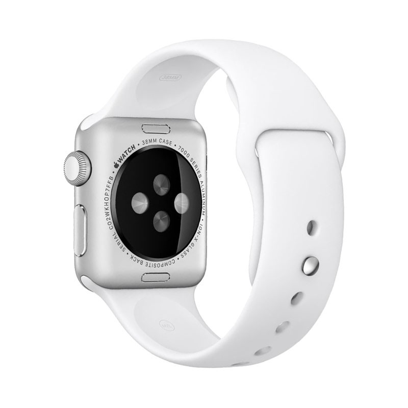 new products 0b686 ee224 Apple Watch Silver Aluminum Case with White Sport Band Series 1 38mm -  128ONLINE