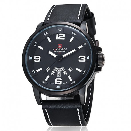 Naviforce 9028 Leather Band Watch