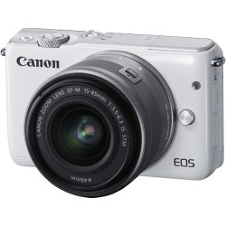 CANON EOS M10 WITH EF-M 15-45MM LENS WHITE