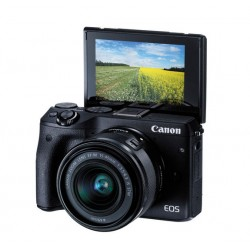 Canon EOS M3 with EF-M15-45 Lens (Black)