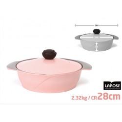 CHEF TOPF LA ROSE (玫瑰鍋) 雙柄火鍋湯鍋 28CM PINK